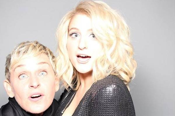 Ellen and singer, Meghan Trainor.