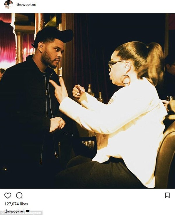 The Weeknd and Oprah get chatty.