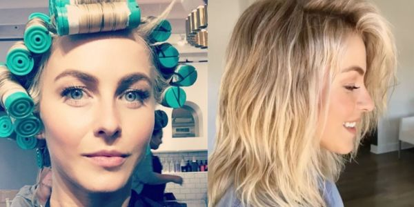 Julianne Hough showing how to do the 2018 perm right.