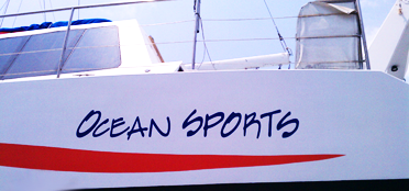 Image: Graphic on the side of a boat