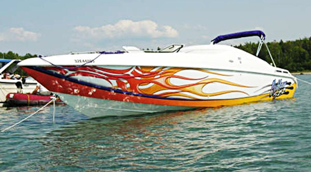 Boat Graphics Vibrant Fullcolour Boat Decals SignSitecomau - Decals for boats australia