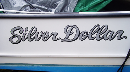 Lucky Boat Lettering