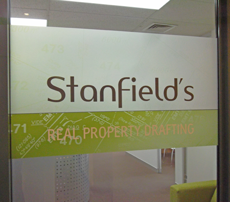 Window Graphics Office Front