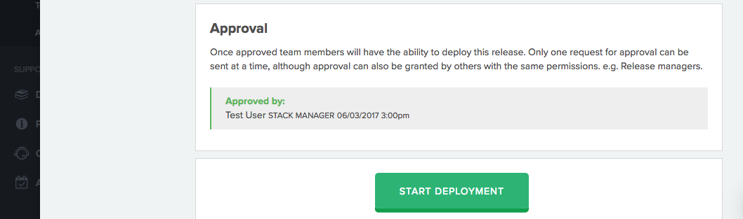Approved, ready to deploy