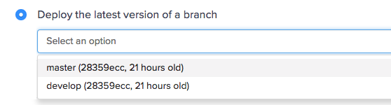 Deploy the latest version of a branch