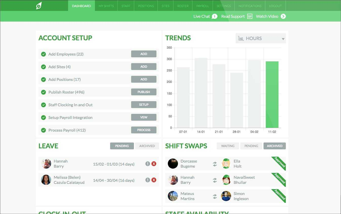 RosterElf Dashboard