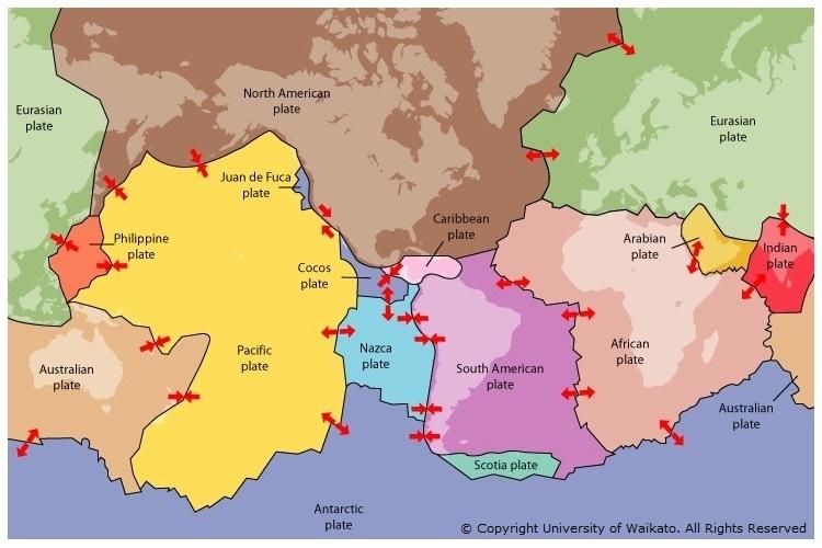 Tectonic plate boundaries — Science Learning Hub