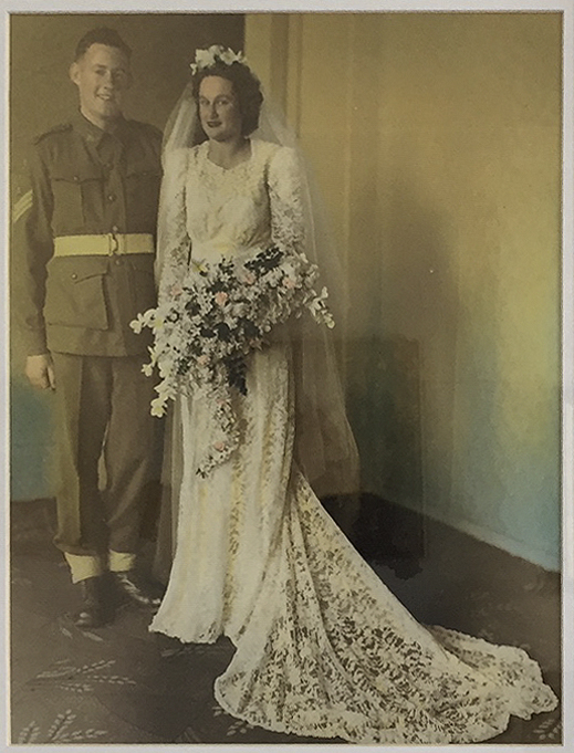 Dorothy Curtis on her wedding day