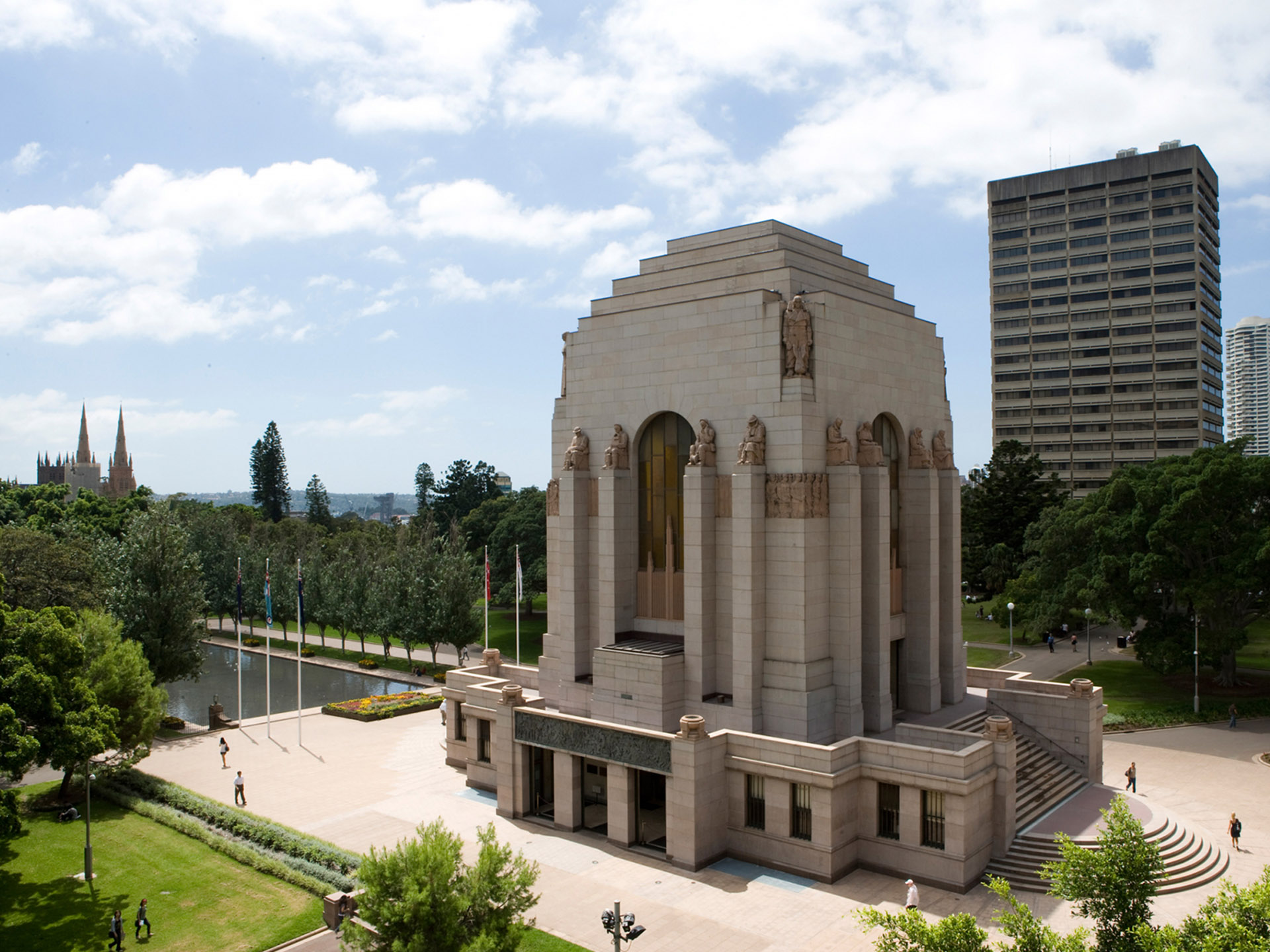 Anzac Memorial, Hyde Park. Photograph by Rob Tuckwell. Provided courtesy of the Trustees of the Anzac Memorial.