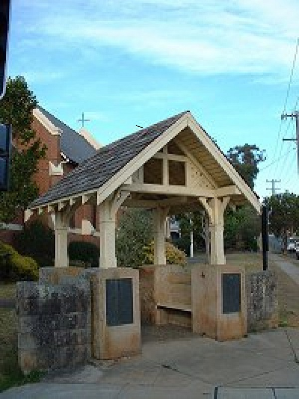 A lychgate at Nowra Anglican Church