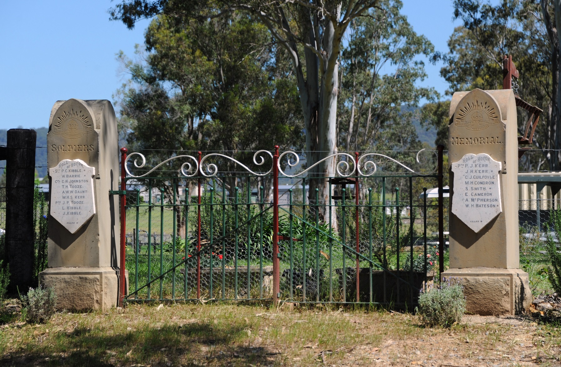 Quorrobolong War Memorial Gate; photographed by Karl Hofman