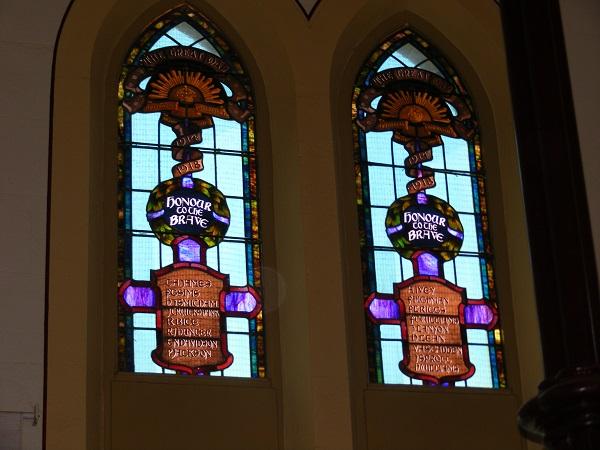 Wesley Uniting Church First World War Memorial Windows