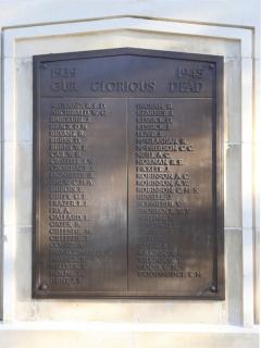 Gosford Cenotaph, close-up of plaque