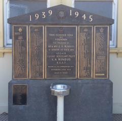 Manildra Honour Roll and Memorial Drinking Fountain