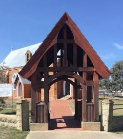 St John's Anglican Church WWI Lamp of Remembrance and Lychgate, Boorowa