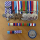 Colour photo of a series of service medals