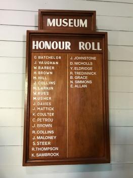 Museum World War I Honour Roll, Bowraville