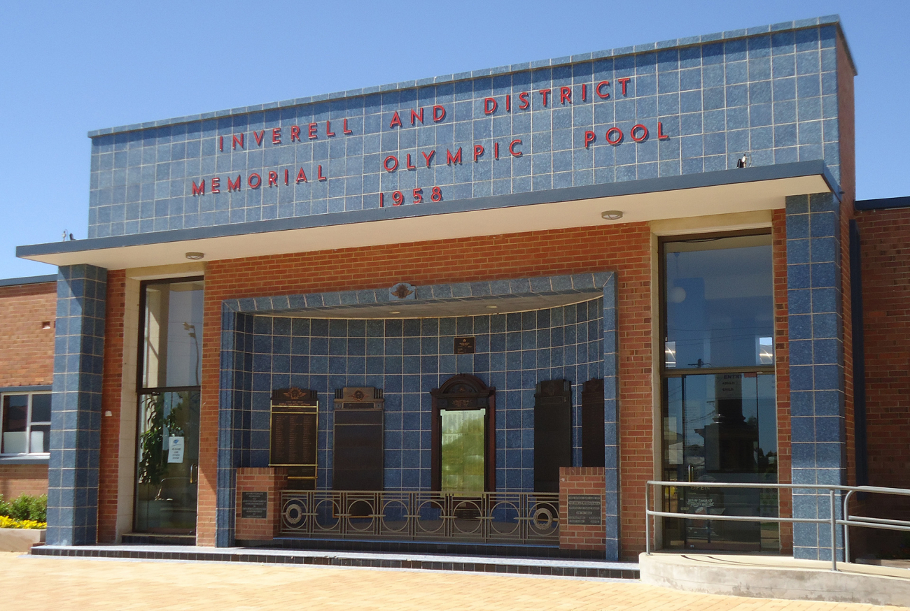 Inverell and District Memorial Olympic Pool. Photograph provided by Graham Wilson, 2020.