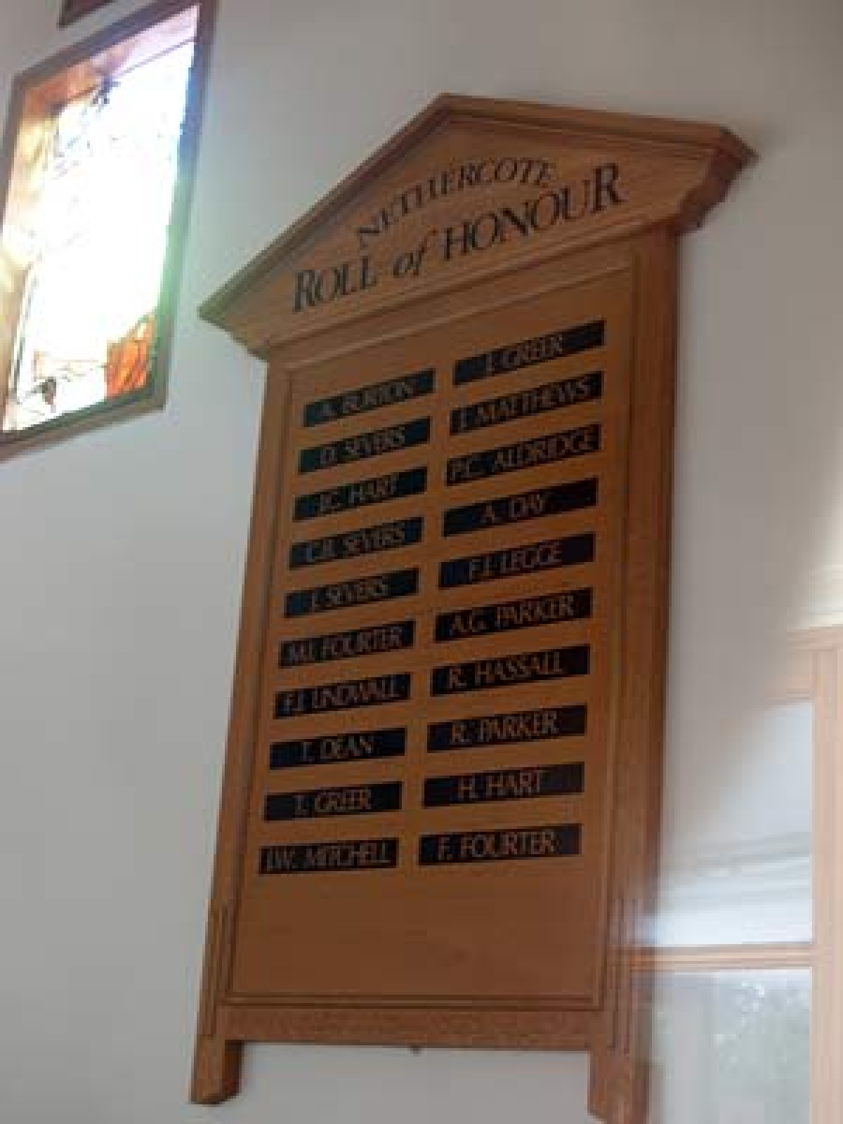 Nethercote Roll of Honour