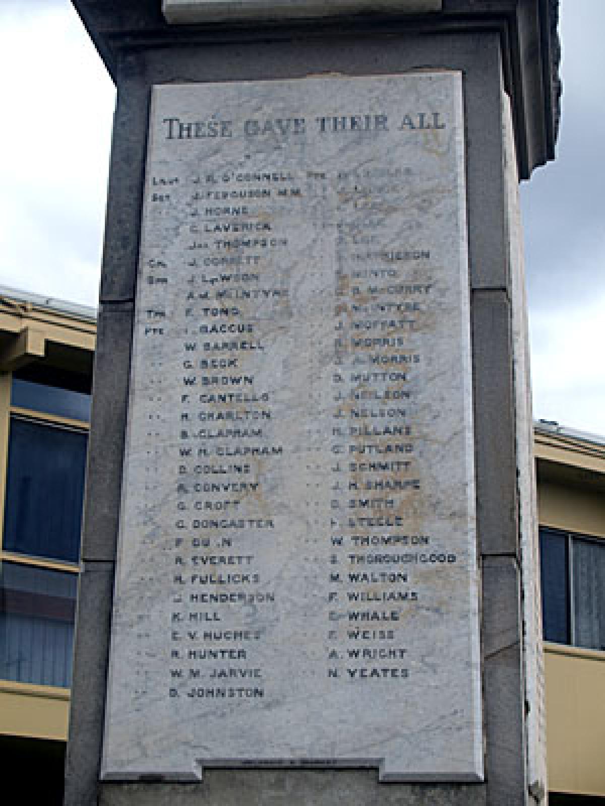 West Wallsend Soldiers Memorial Nsw War Memorials Register