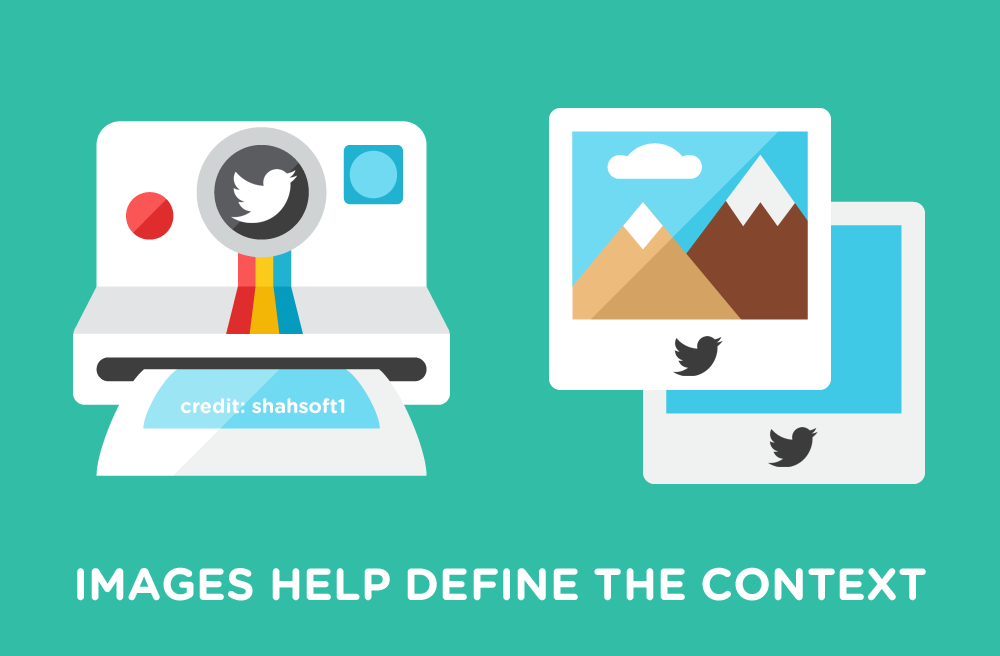 Images help define the context in twitter - social eazie