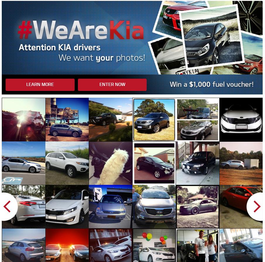 #WeAreKia Facebook hashtag campaign