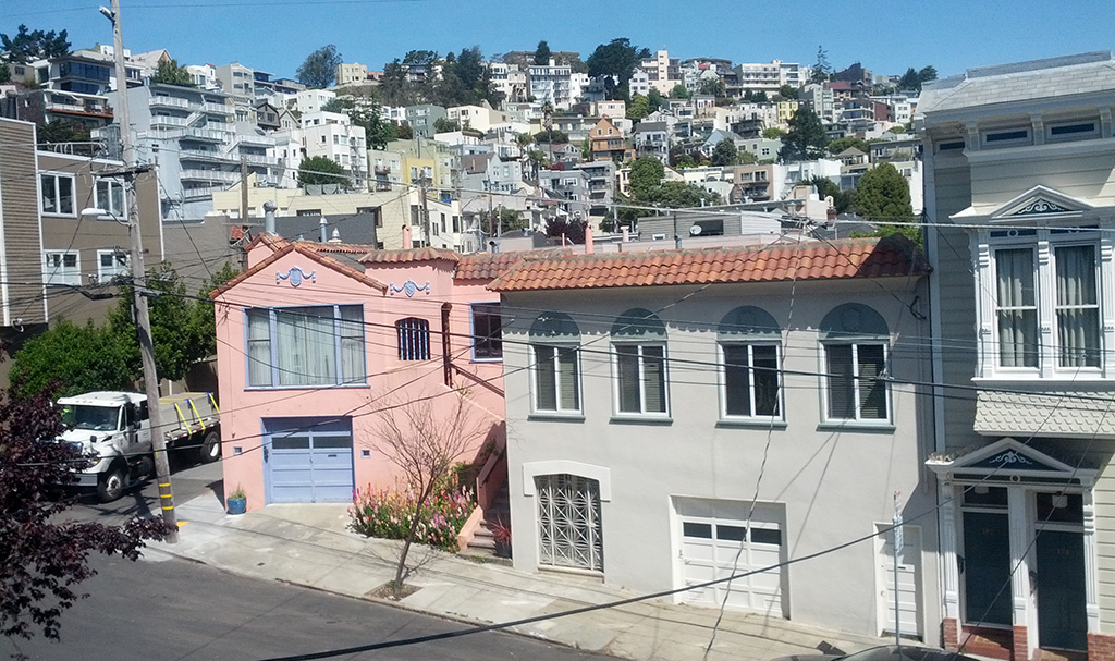 View over Eureka Valley