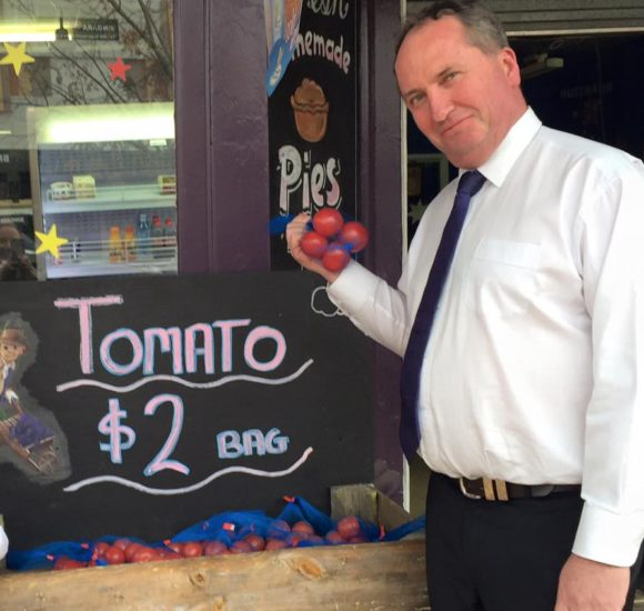 How a bunch of tomatoes delivered Barnaby Joyce social media victory