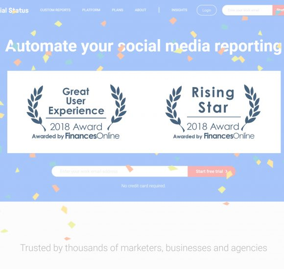 Social Status Earns 2018 Social Media Management Software Awards from FinancesOnline Directory