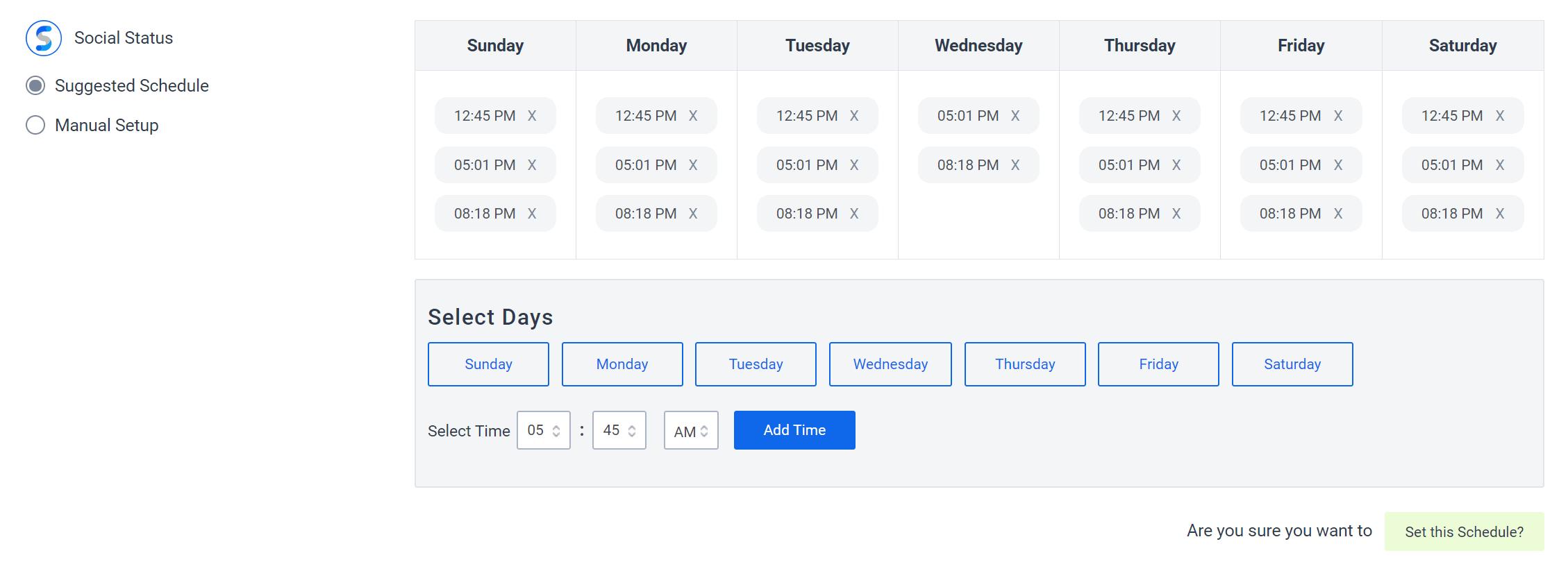 SocialPilot scheduling