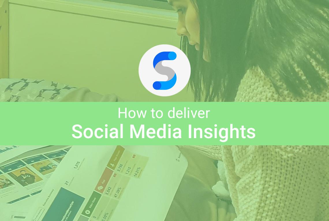 Social media insights report