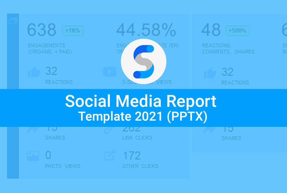 Social media report template 2021