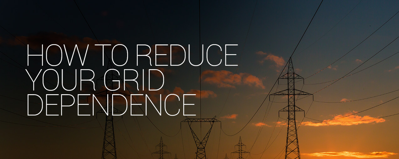 How to reduce your grid dependence
