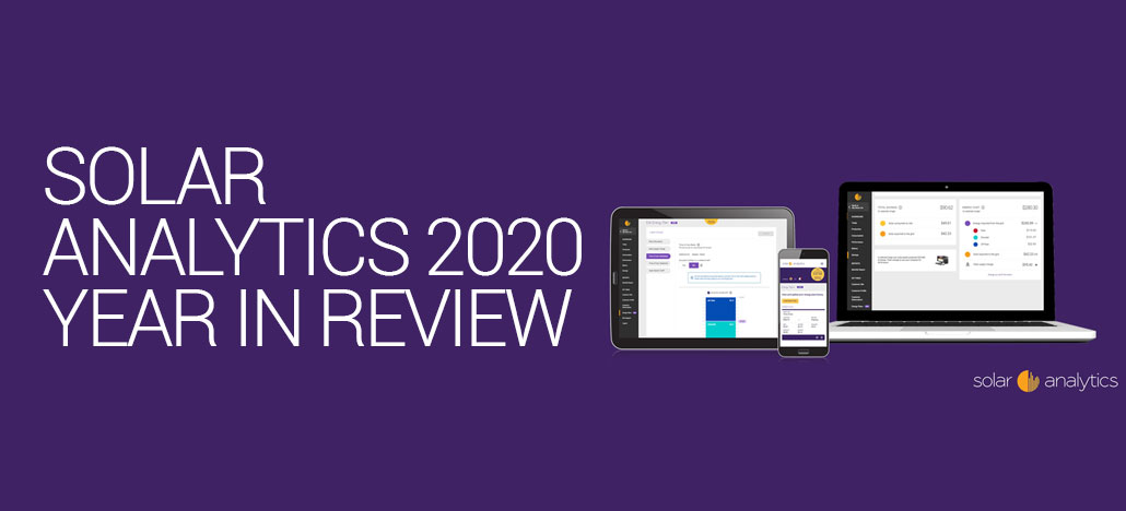Solar Analytics 2020 Year in Review