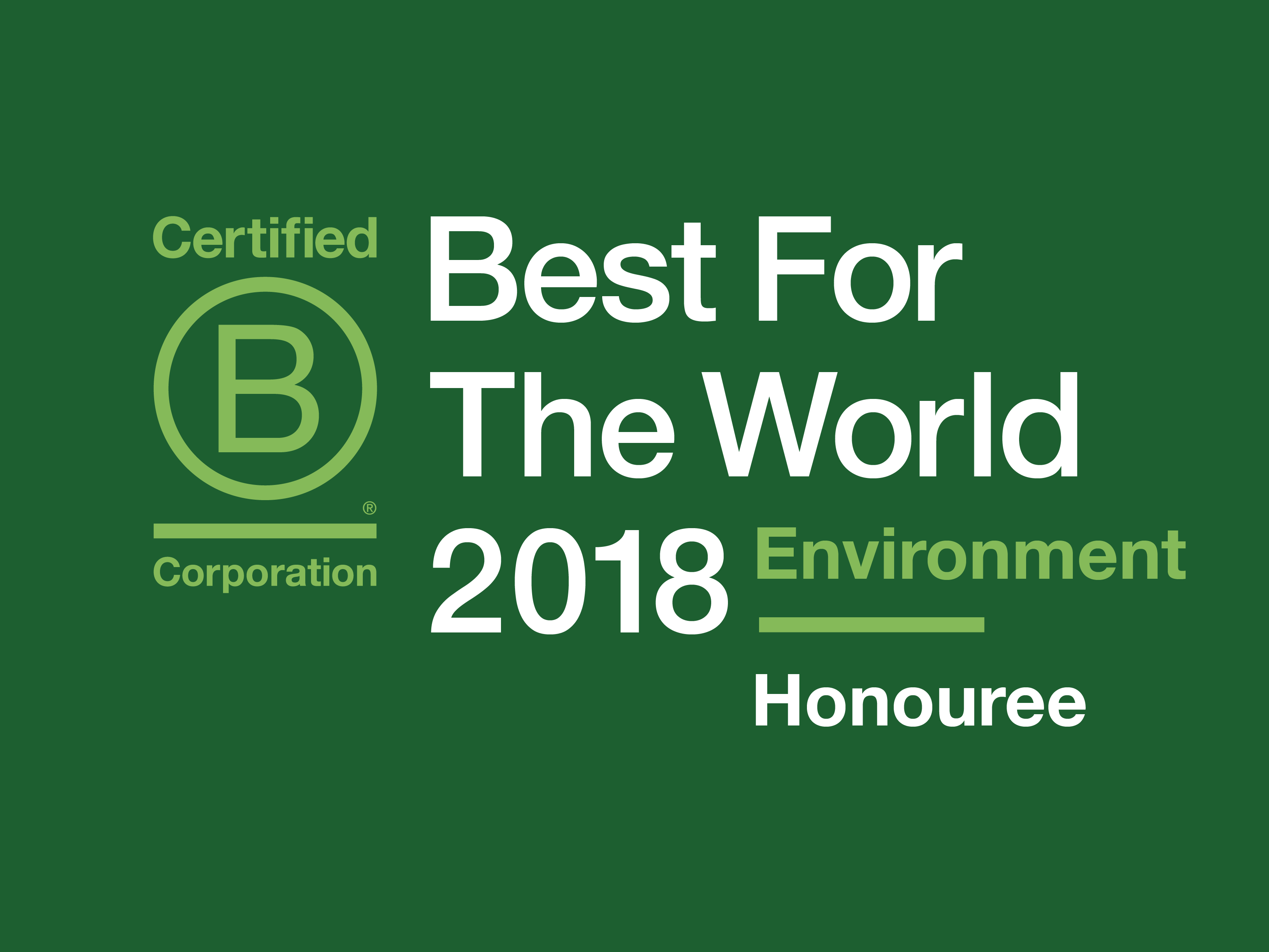 Solar Analytics BCorp Best for the World Environment 2018