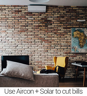 Using aircon and solar to reduce energy bills