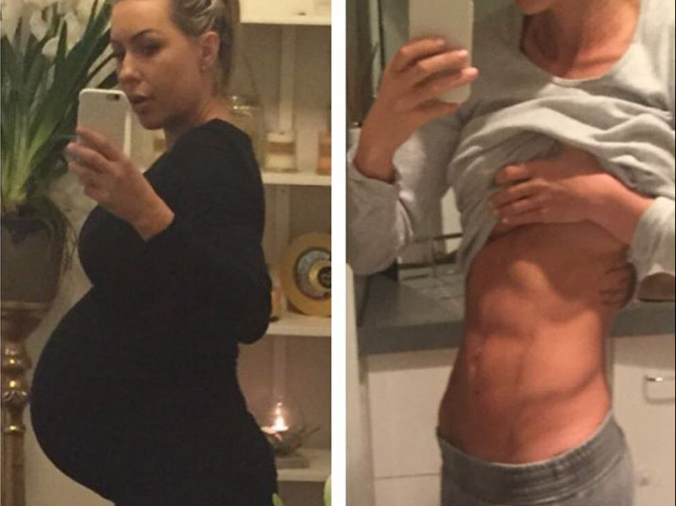 Amazing before and after post pregnancy following The Bod Pro program