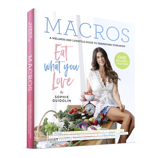 Sophie Guidolin on the cover of her new recipe book MACROS