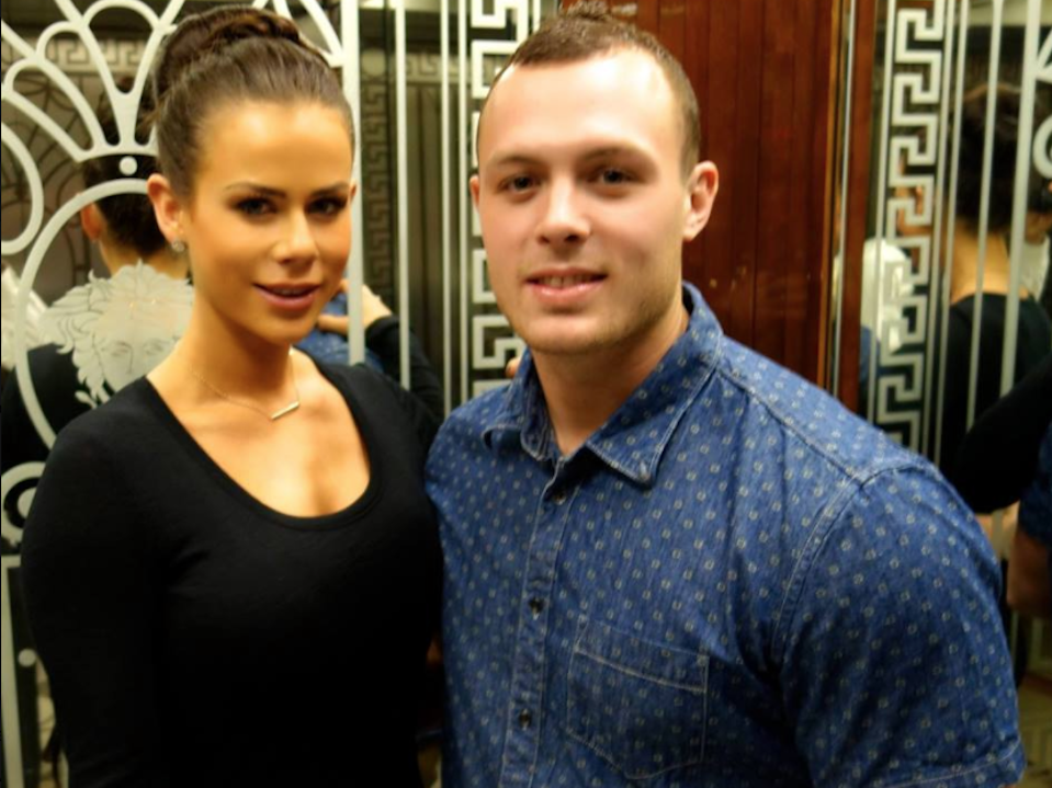 Sophie Guidolin and Nathan Wallace engagement photo