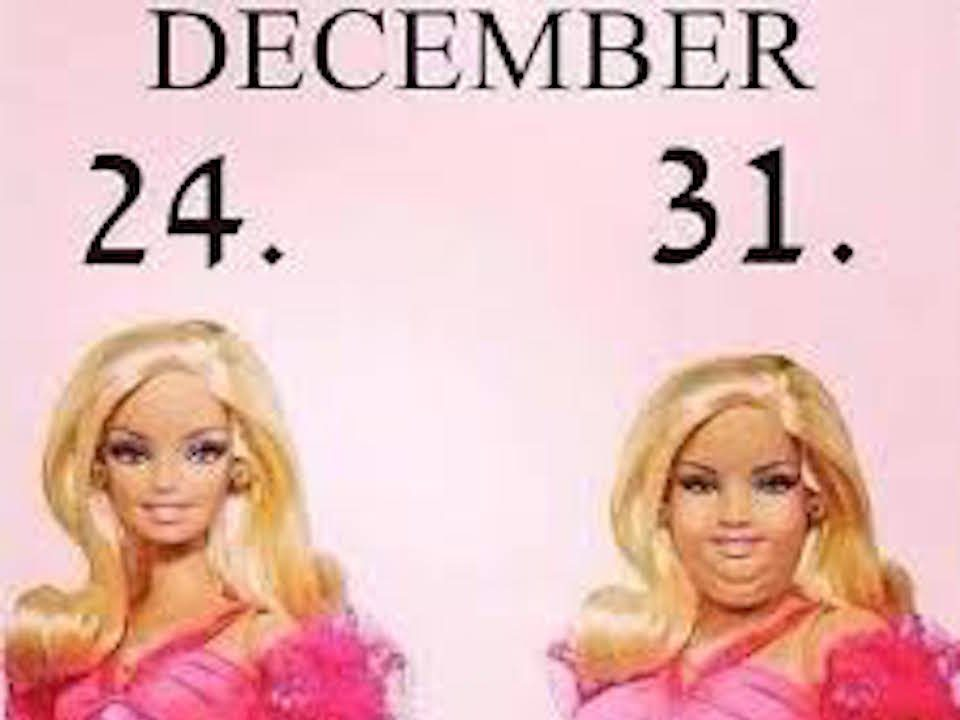 Barbie comparison photo