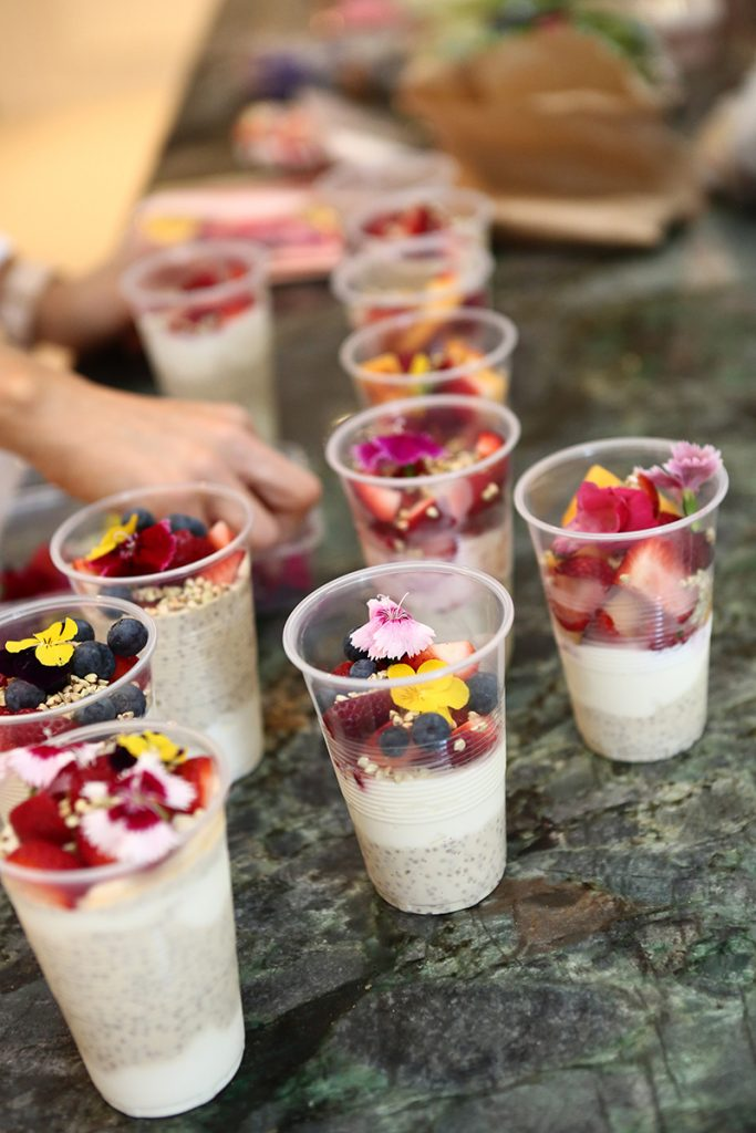 Healthy desserts at baby girl birthday party