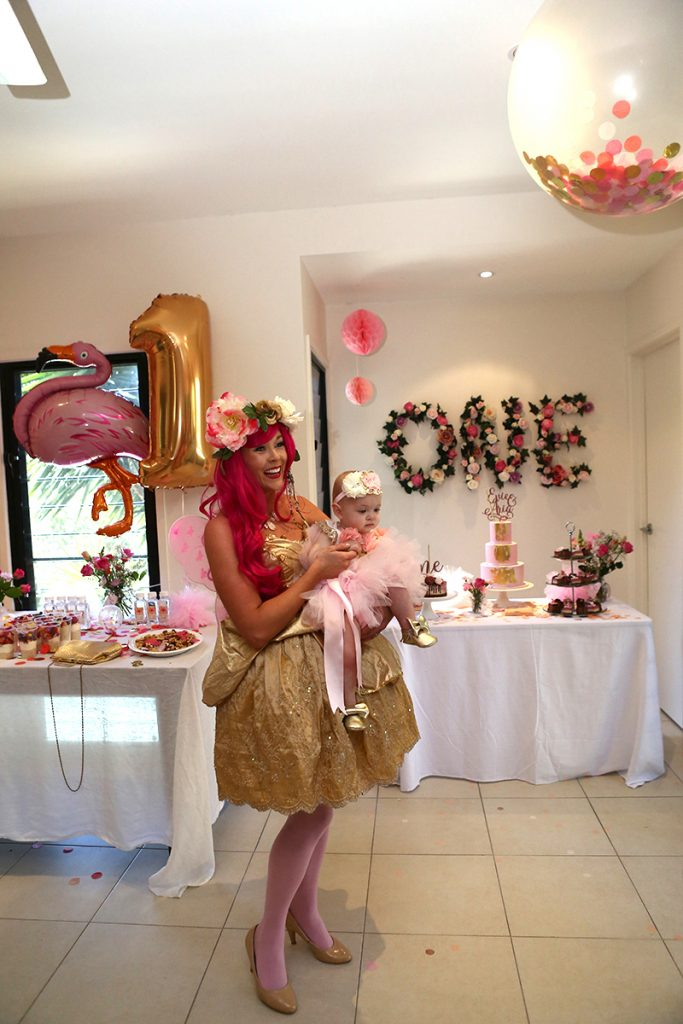 Fairy at girly birthday party