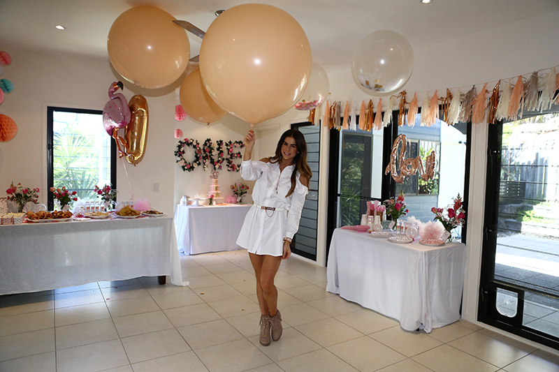 Sophie Guidolin at baby birthday party