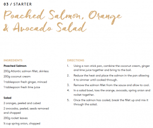 Poached salmon recipe excerpt from 12 days of christmas ebook
