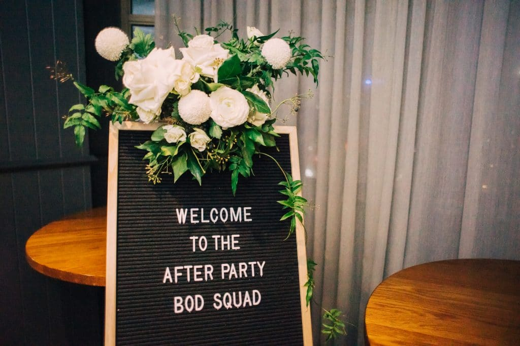 THE BOD Flower Decor and Black Easel