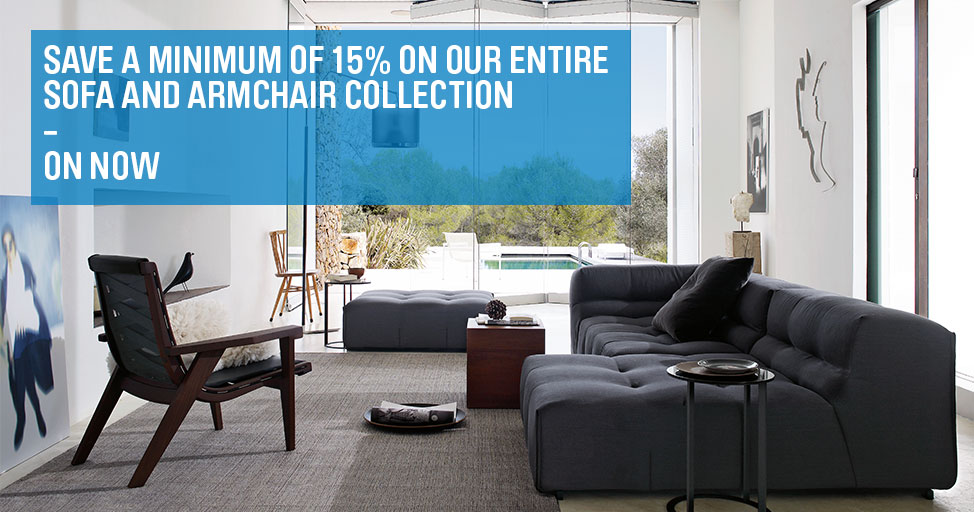 Save a minimum of 15% on our entire sofa and armchair collection.
