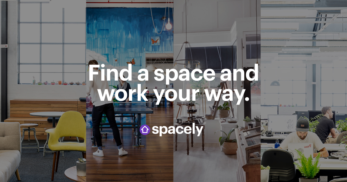 Spacely. Find a space and work your way.