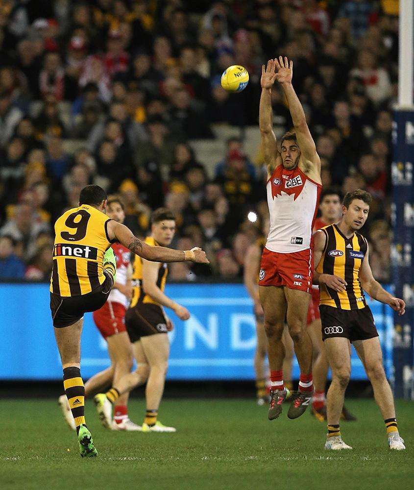 Shaun Burgoyne kicks a massive goal.