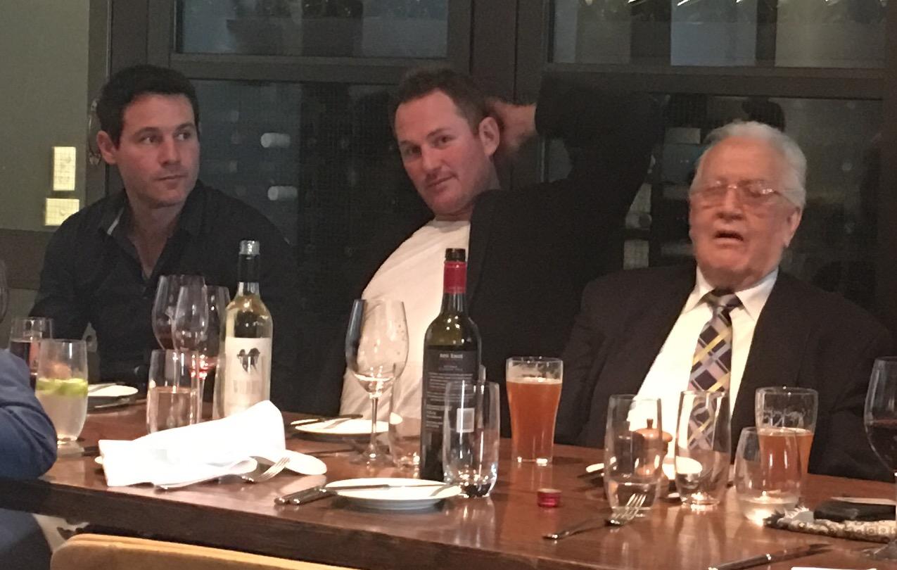 Alan Didak and Ben Johnson meet Magpie legend Murray Weideman