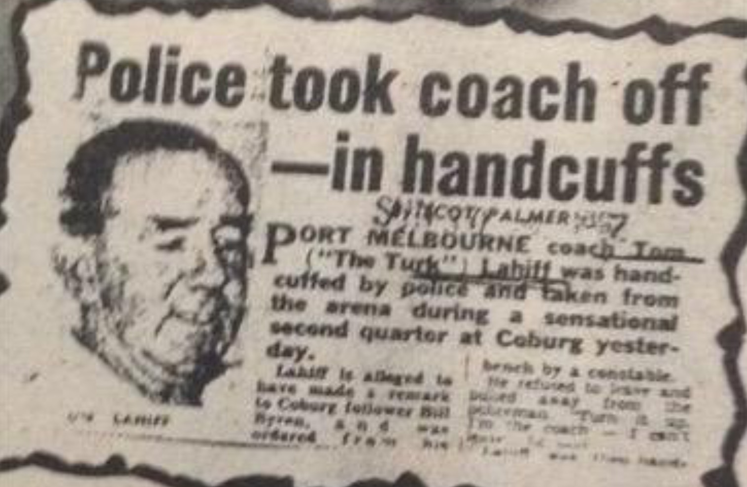 The day the footy coach was handcuffed - Sportshounds